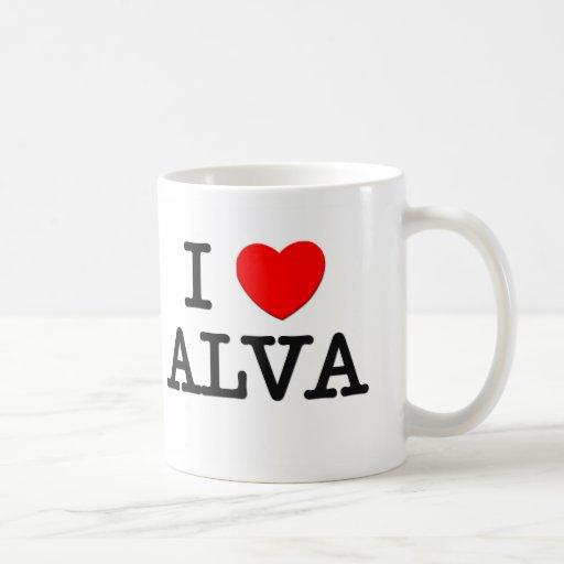 I Love Alva Coffee Mugs