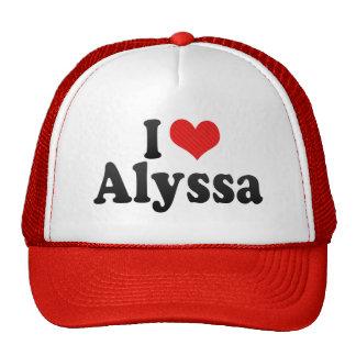 I Love Alyssa Hats