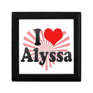 I love Alyssa Jewelry Box