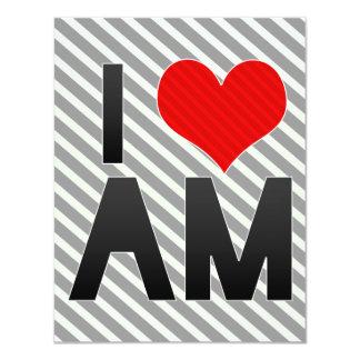 I Love AM 4.25x5.5 Paper Invitation Card