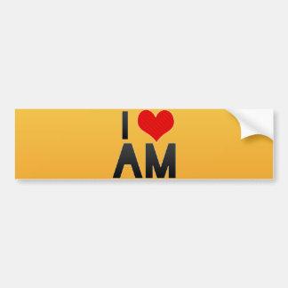 I Love AM Car Bumper Sticker