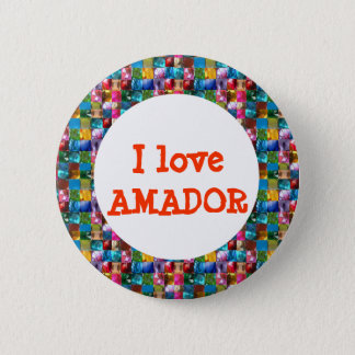 I LOVE AMADOR PINBACK BUTTON