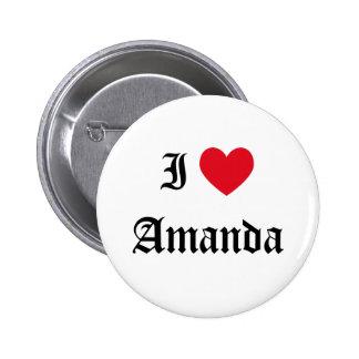 I Love Amanda Button