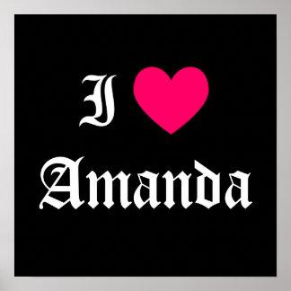 I Love Amanda Posters