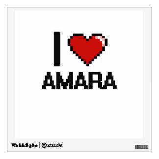 I Love Amara Digital Retro Design Room Graphic