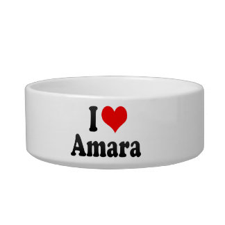 I love Amara Cat Food Bowls