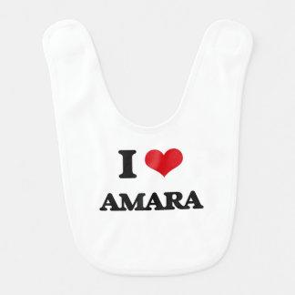 I Love Amara Baby Bib
