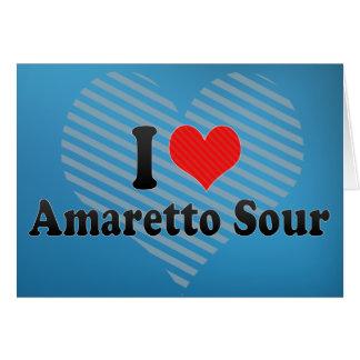 I Love Amaretto Sour Greeting Card