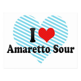 I Love Amaretto Sour Postcards