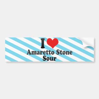 I Love Amaretto Stone+Sour Bumper Stickers