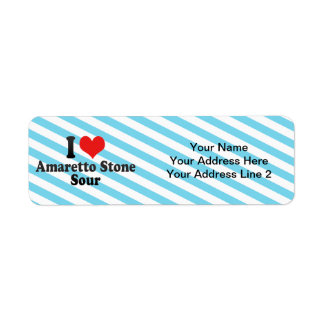 I Love Amaretto Stone+Sour Return Address Labels