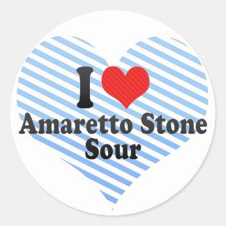 I Love Amaretto Stone+Sour Stickers