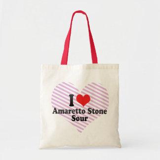I Love Amaretto Stone+Sour Tote Bags
