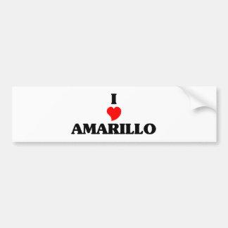 I love Amarillo Car Bumper Sticker