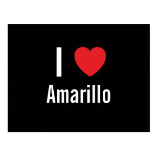 I love Amarillo Postcard