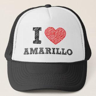 I Love Amarillo Trucker Hat