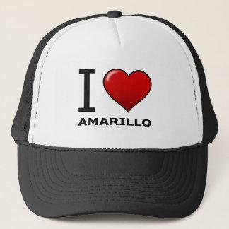 I LOVE AMARILLO,TX - TEXAS TRUCKER HAT