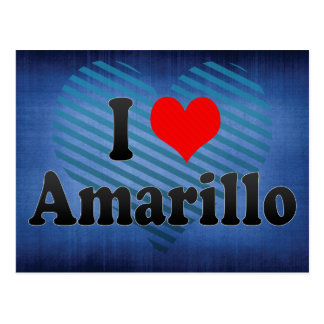 I Love Amarillo, United States Postcard