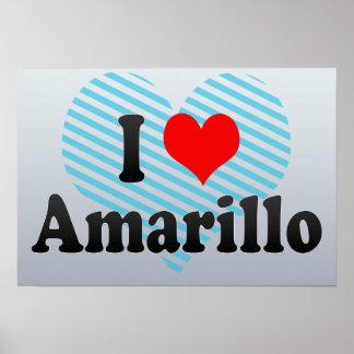 I Love Amarillo, United States Print