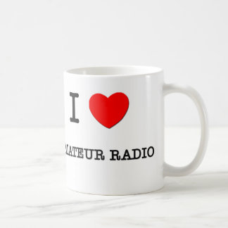 I LOVE AMATEUR RADIO CLASSIC WHITE COFFEE MUG