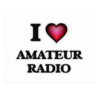 I Love Amateur Radio Postcard