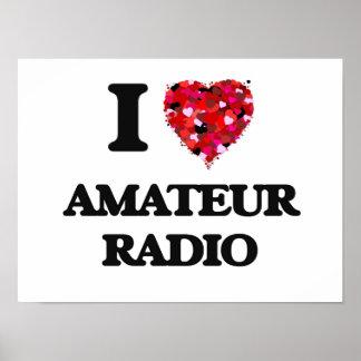 I Love Amateur Radio Poster