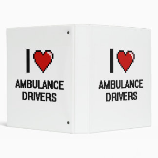I love Ambulance Drivers 3 Ring Binders
