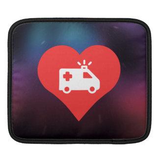 I Love Ambulances Modern Sleeve For iPads