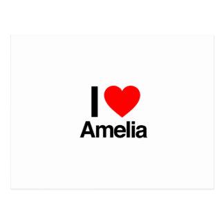 i love amelia postcard