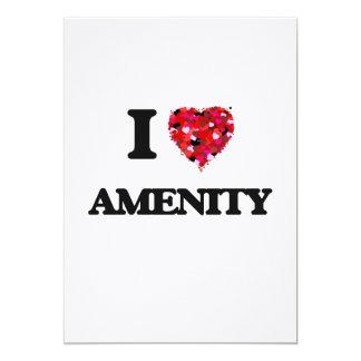 I Love Amenity 5x7 Paper Invitation Card