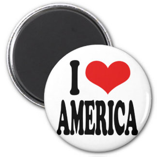 I Love America 2 Inch Round Magnet