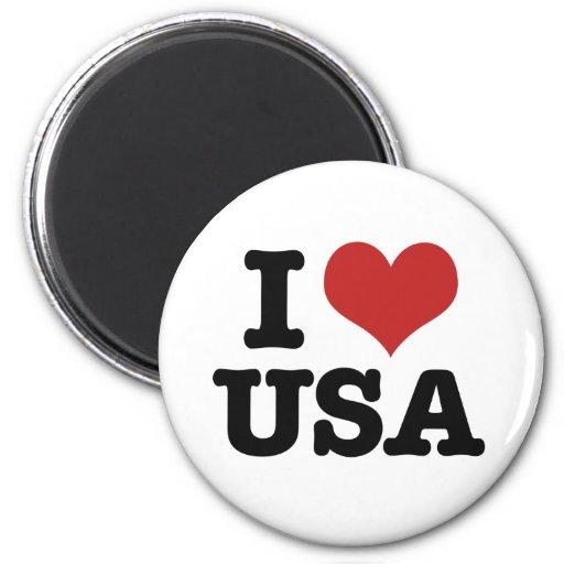 I Love America 2 Inch Round Magnet