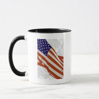 I love America - American Flag Mug