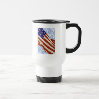 I love America - American Flag Travel Mug