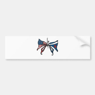 i Love america and scotland!! Bumper Sticker