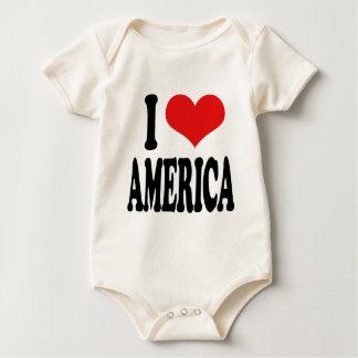 I Love America Baby Bodysuit