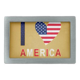 I LOVE AMERICA BELT BUCKLE