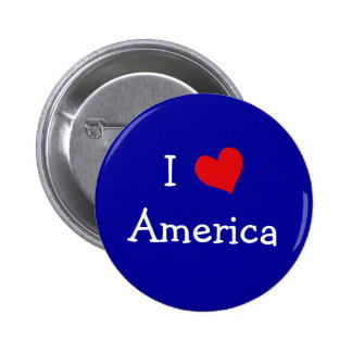 I Love America Buttons