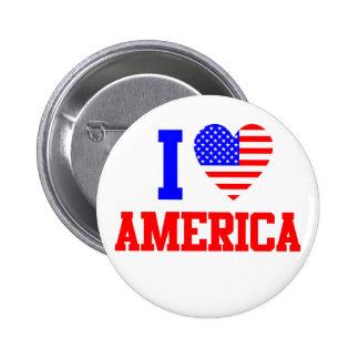 I Love America Button