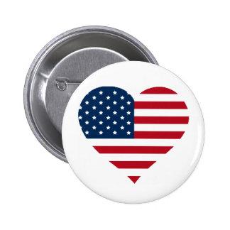 I love America button! 2 Inch Round Button