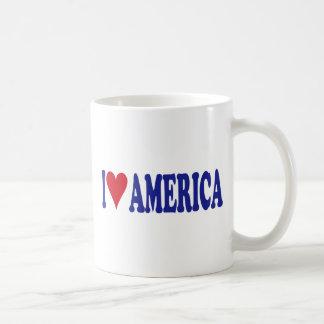 I Love America Coffee Mugs