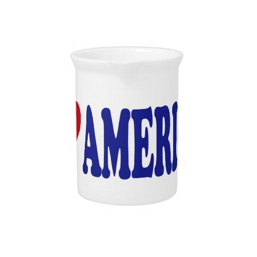 I Love America Drink Pitcher