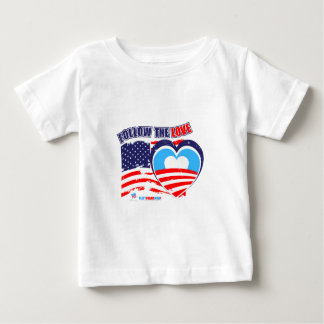 I love America - Elect Obama Now Baby T-Shirt