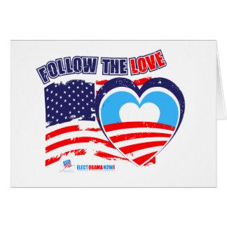 I love America - Elect Obama Now Card
