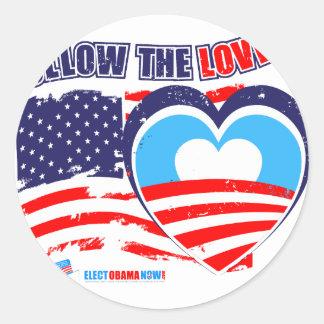 I love America - Elect Obama Now Classic Round Sticker