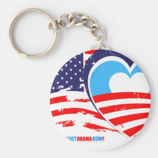 I love America - Elect Obama Now Keychain