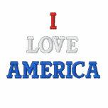 I LOVE AMERICA EMBROIDERED HOODIE