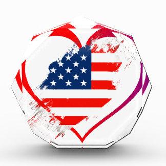 I love America flag in heart Award