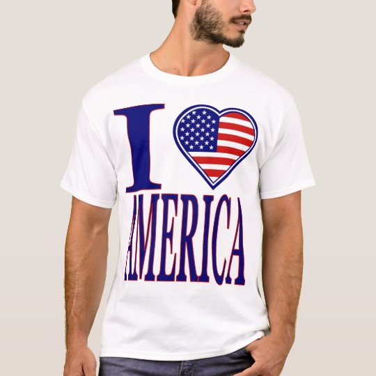 I Love America Forth Of July Edition T-Shirt