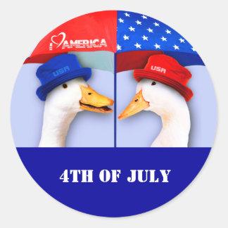 I Love America. Fun US Patriotic Gift Stickers